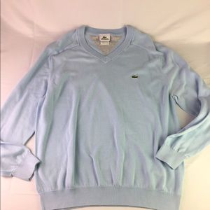 Lacoste vneck cotton sweater size 6 large